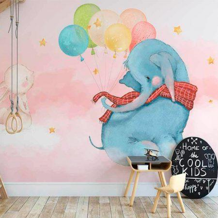 Фототапет - Слонче с балони