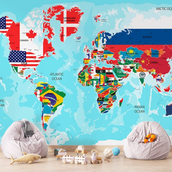 fototapet-svetovna-karta-sys-znamena (3)