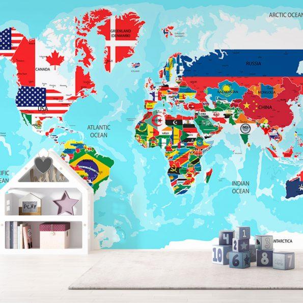 fototapet-svetovna-karta-sys-znamena (4)