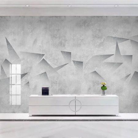 Фототапет Триизмерни сиви фигури