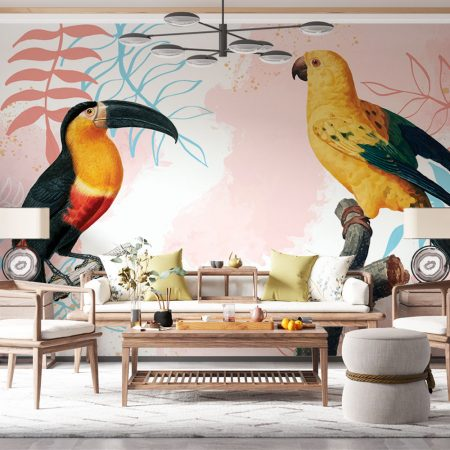 Фототапет - Тукан и папагал