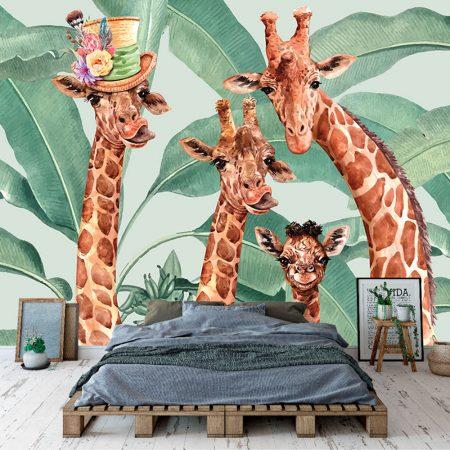 Фототапет - Весели жирафи