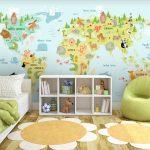 fototapet-za-detska-staq-zelena-karta-na-sveta (1)
