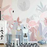 tapet-za-detska-staq-rozovo-flamingo (1)