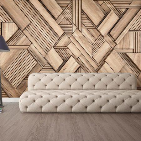 Фототапет Дървени елементи 2