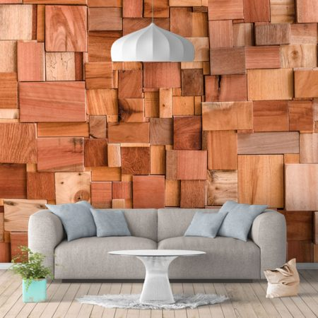 Фототапет Дървени елементи 3